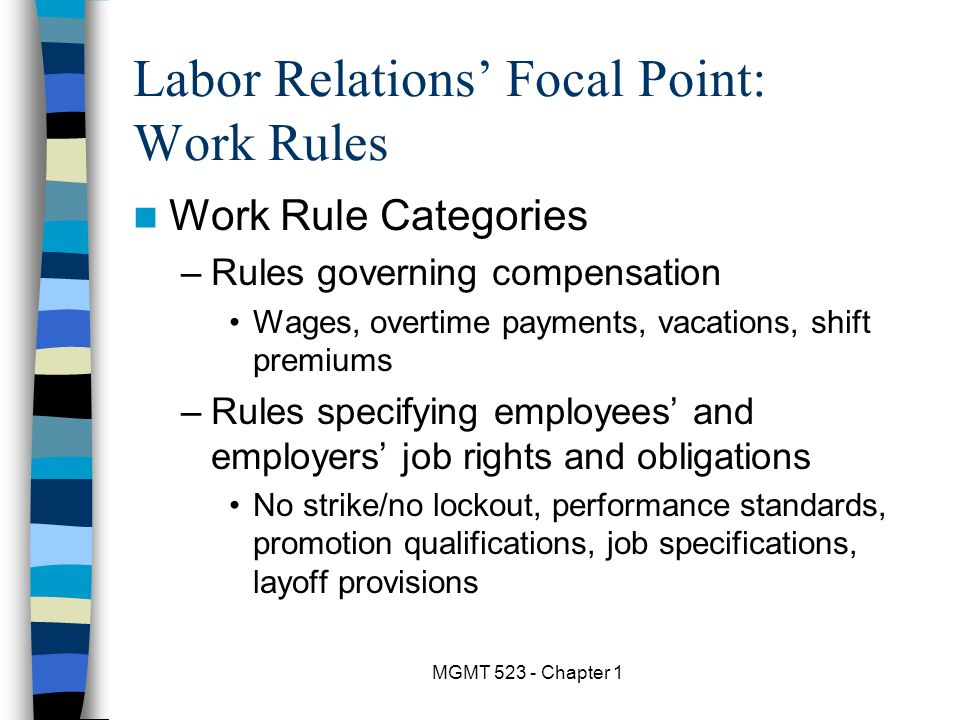 labor management relations and high performance Basic understanding of federal labor relations, including an overview of labor  laws,  exercises drive home the content in a highly facilitated learning  environment  compare performance-related, conduct-related, unfair labor  practice, and.
