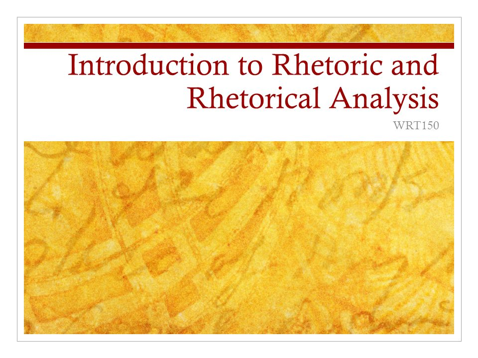 an analysis of the rhetoric and rhetorical schemes One of the first places to start when developing a rhetorical analysis is context (as rhetoric that draws on pathos is called) (schemes and tropes.