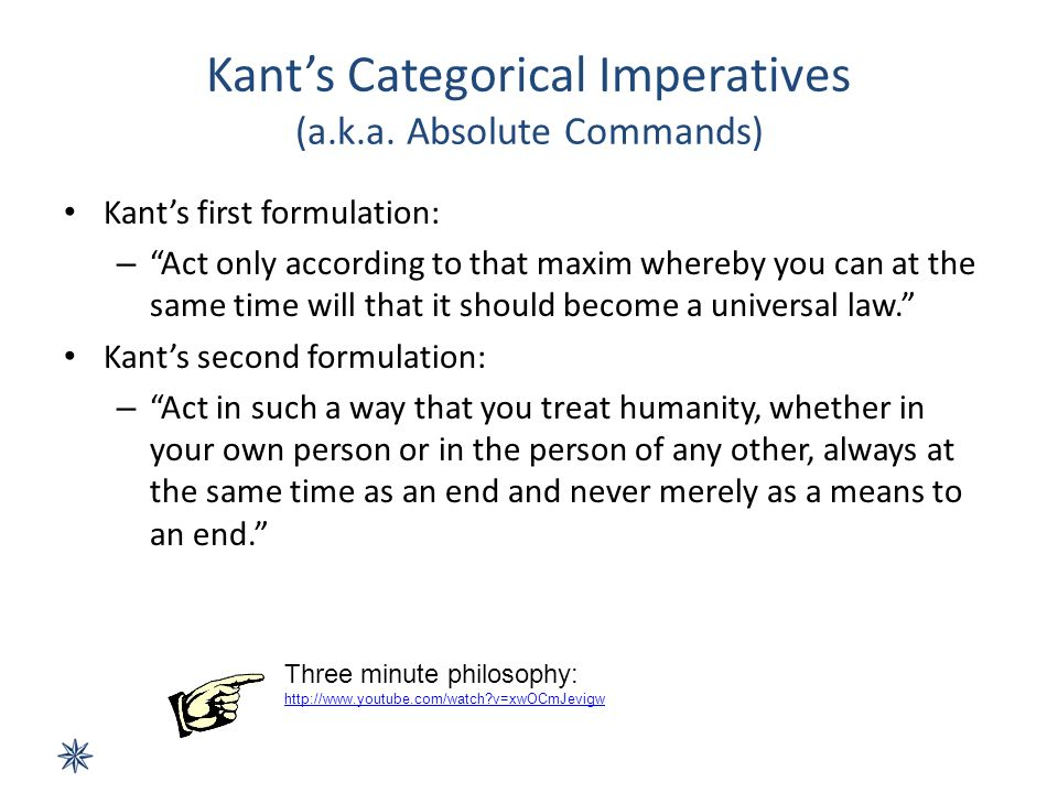 A Brief Summary of Kant's Categorical Imperative