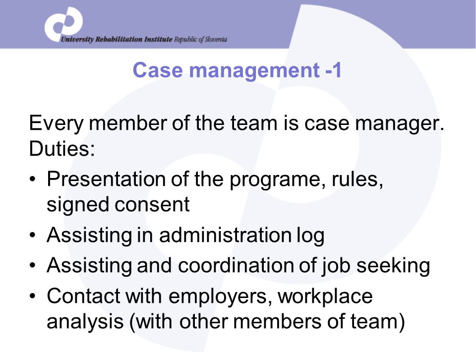 Case Management Duties  BesikEightyCo