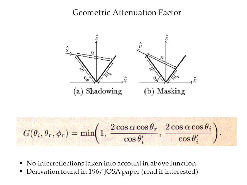 Geometric Attenuation Factor
