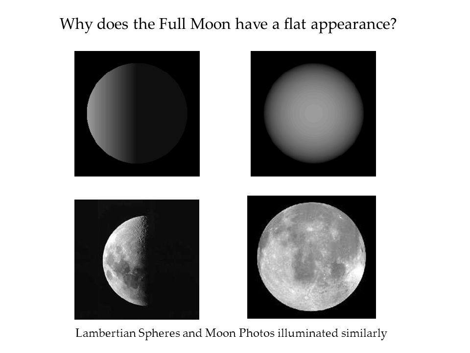Why does the Full Moon have a flat appearance