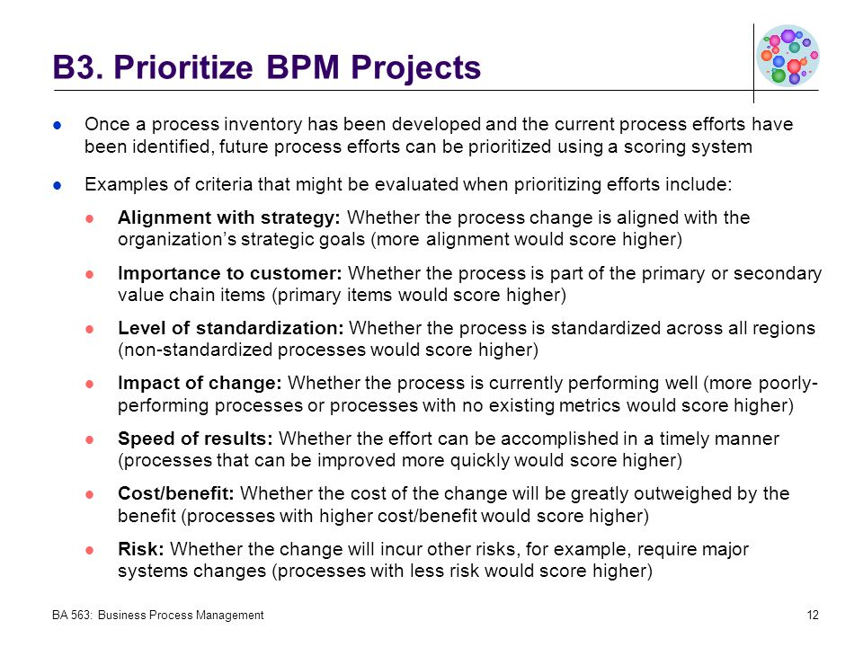 project prioritization criteria template - establishing a bpm coe creating a bpm discipline