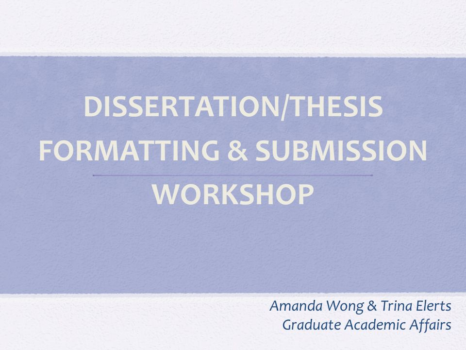 Online thesis submission