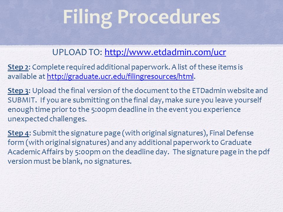 proquest electronic thesis/dissertation etd administrator To begin the process, proceed to the proquest umi/etd administrator site for thesis make sure you see the word masters in parenthesis at the top step 1 instructions: note, submission steps are located on the left hand sideyou may 'jump around' by clicking on the items in this bar.