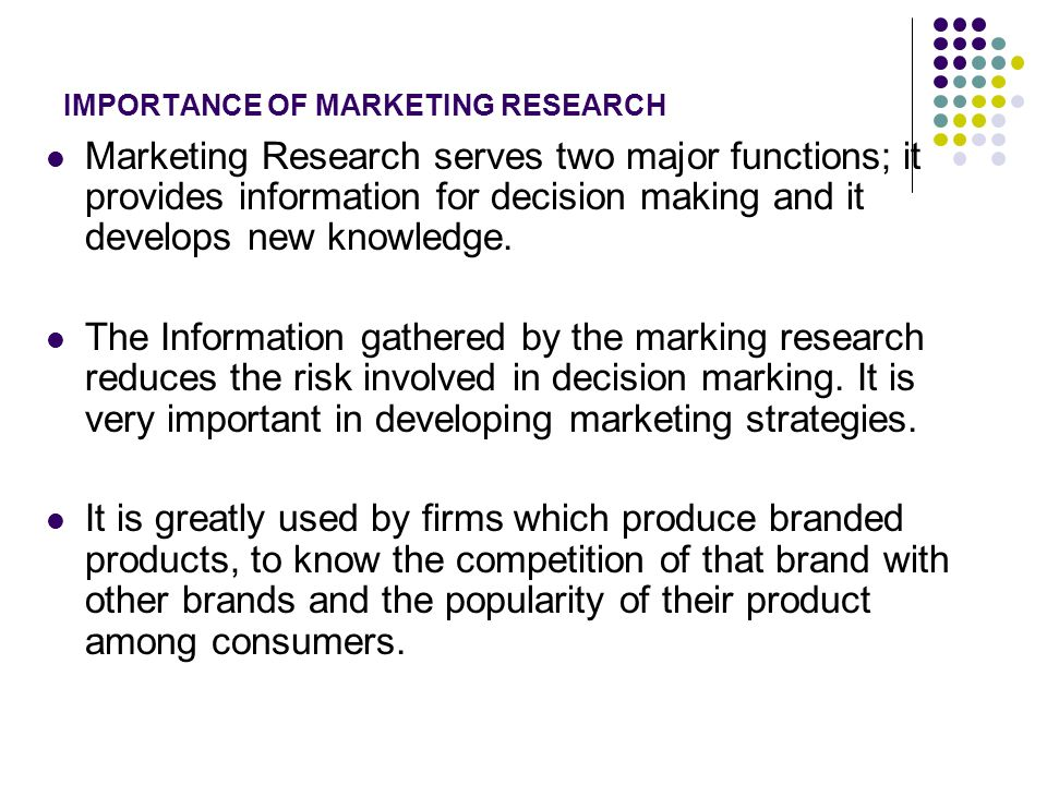 importance of research in decision making pdf