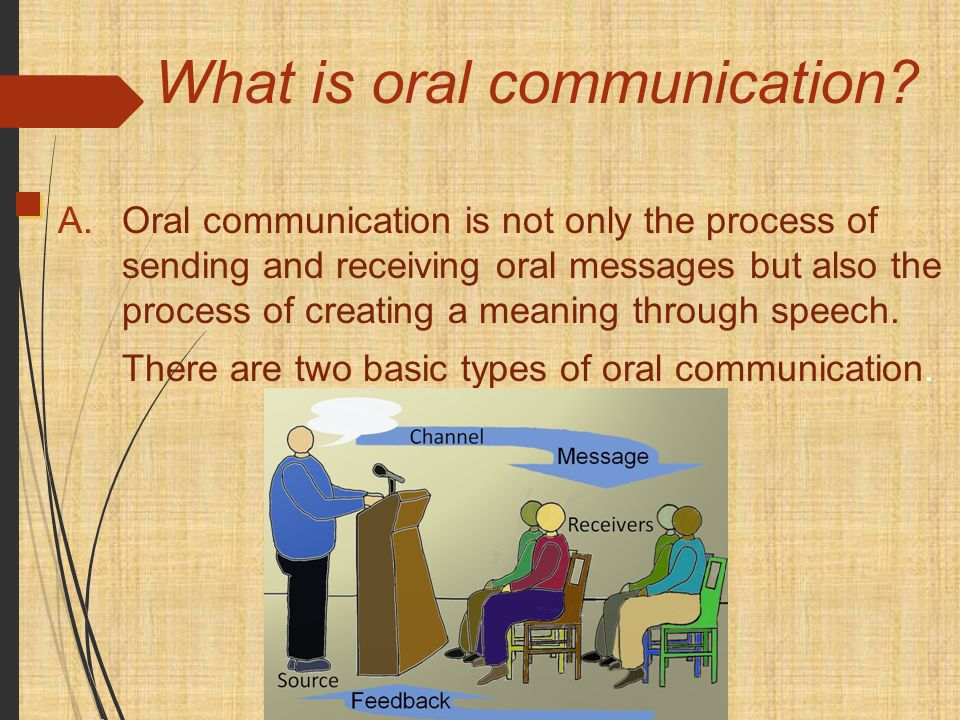the oral communication process Oral communication i is a required course in most academic programs therefore, enrolled students represent the demographic diversity typical of ccri classrooms, ranging from traditional high school graduates to older, returning students.