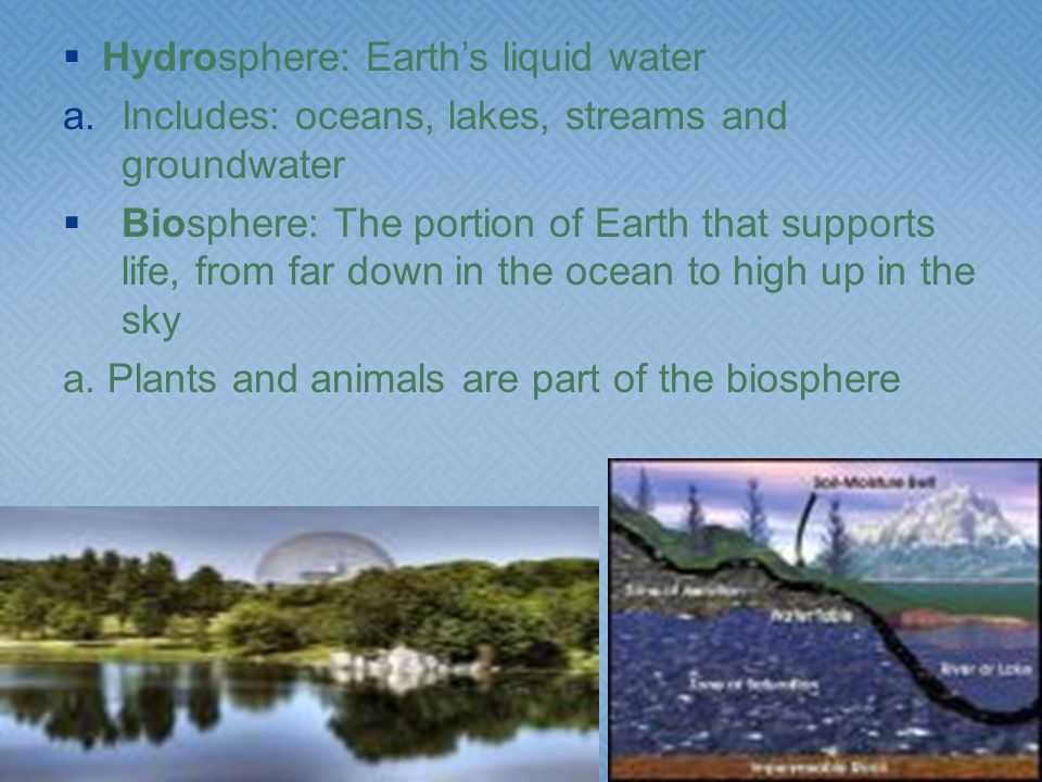 Hydrosphere: Earth's liquid water