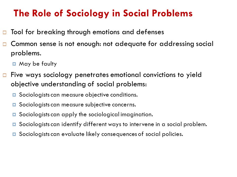 The Sociological Viewpoint Toward Social Problems Essay Sample