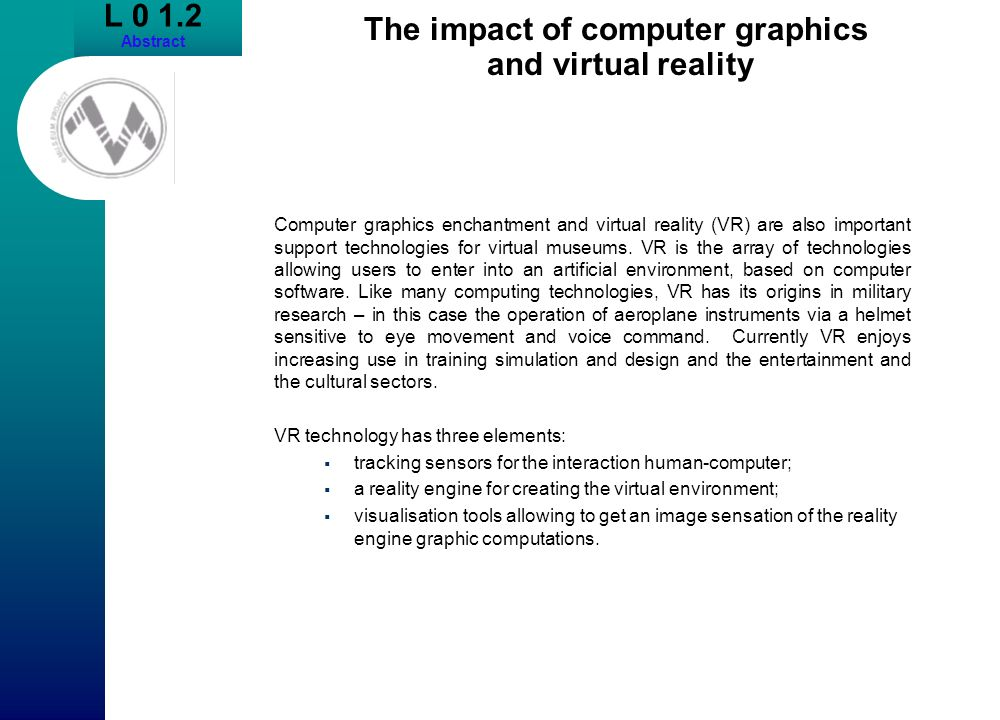The impact of computer graphics and virtual reality