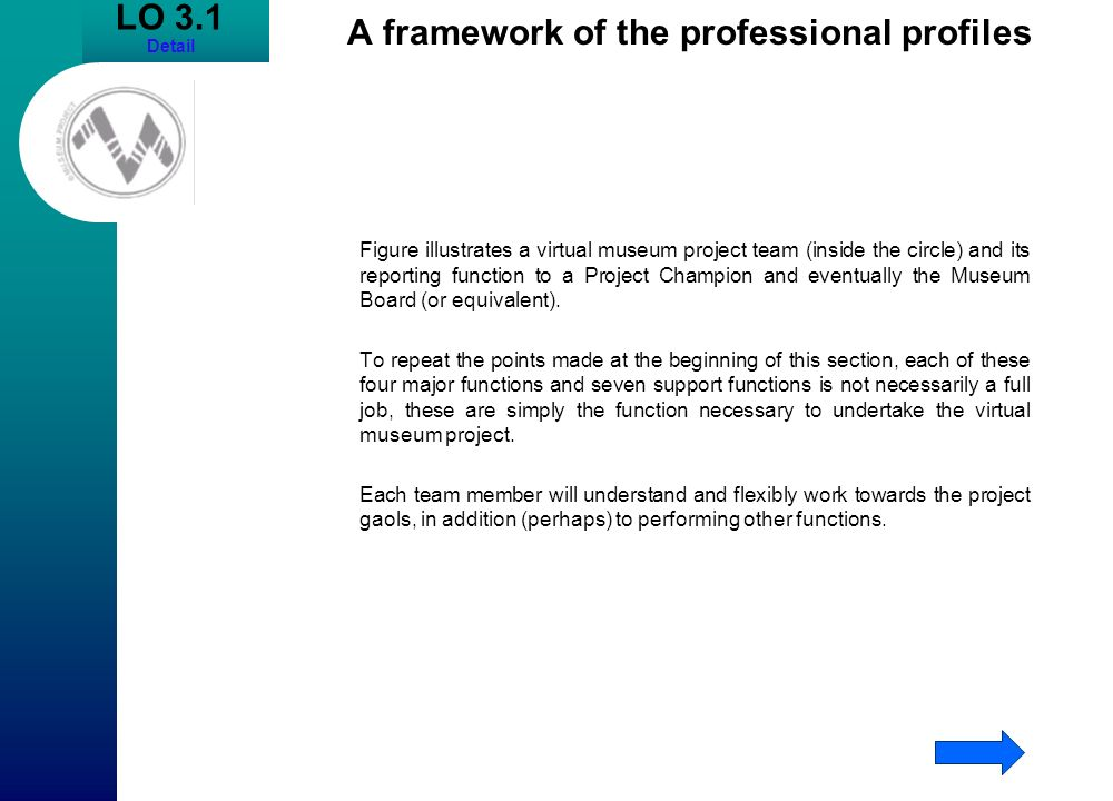 A framework of the professional profiles