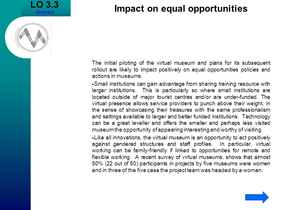 Impact on equal opportunities