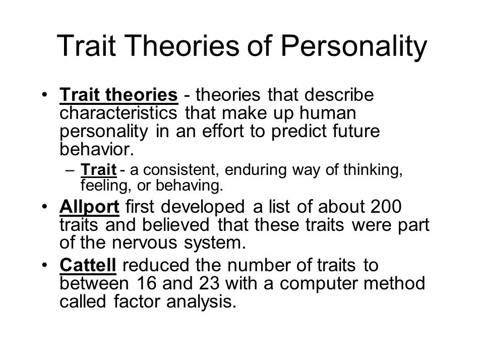 theories of personality overview and analysis Chapter 11 personality assessment: an overview 1  to the analysis of  concept of traits in personality theory such critics may also allude to the fact that .