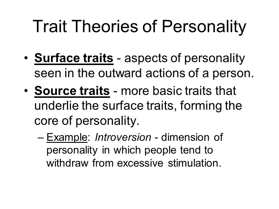allport trait theory of personality pdf