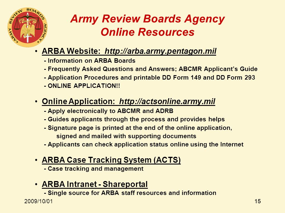 Army Review Boards Agency - ppt video online download