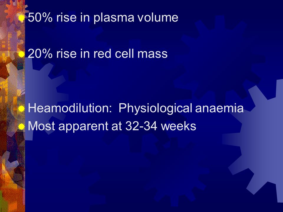physiological anaemia of pregnancy 50 2014 volume 26 number 01 review article pregnancy especially in the second half of pregnancy so, physiological anemia is due to combined effect of.