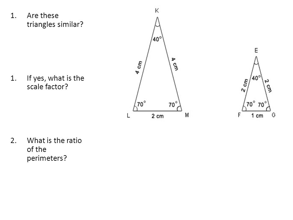 Are these triangles similar