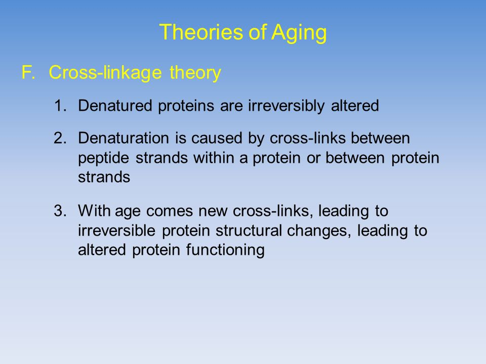theories of aging mechanisms of aging