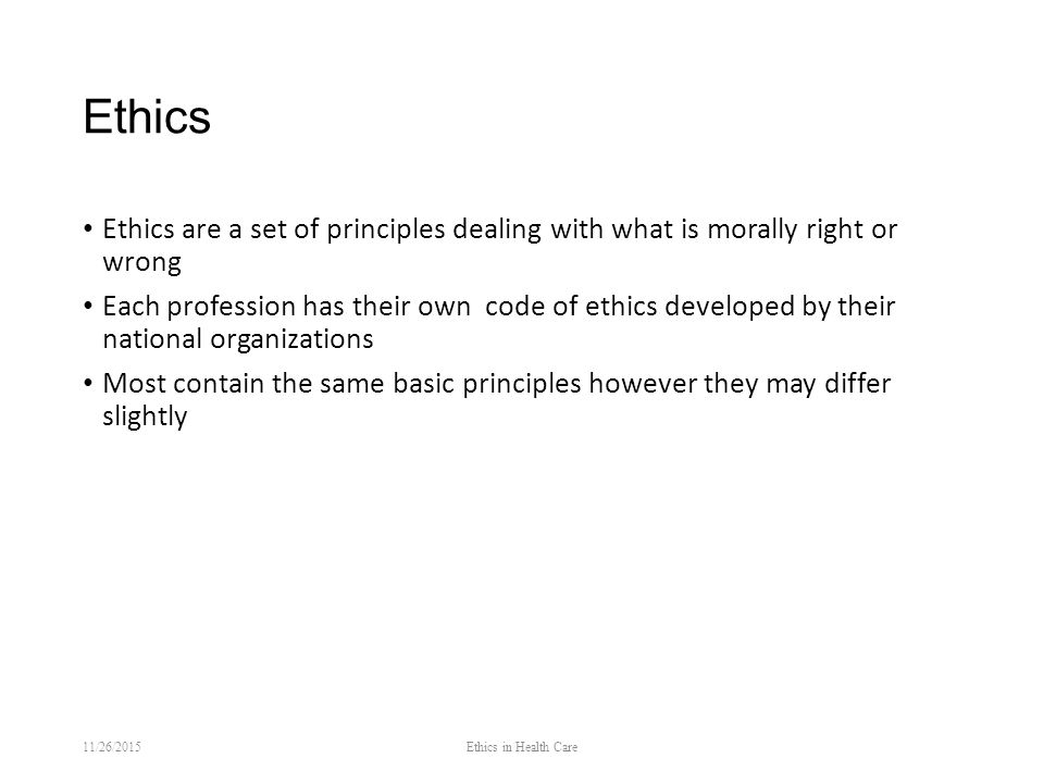 the different principles of healthcare ethics in the case of assisted suicide Physician assisted death (pad) health care reform in vermont or a conflict regarding competing ethical principles, personal values vermont ethics network.