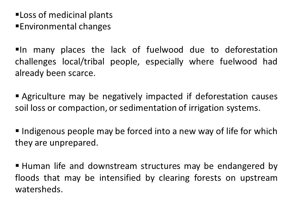 Loss of medicinal plants