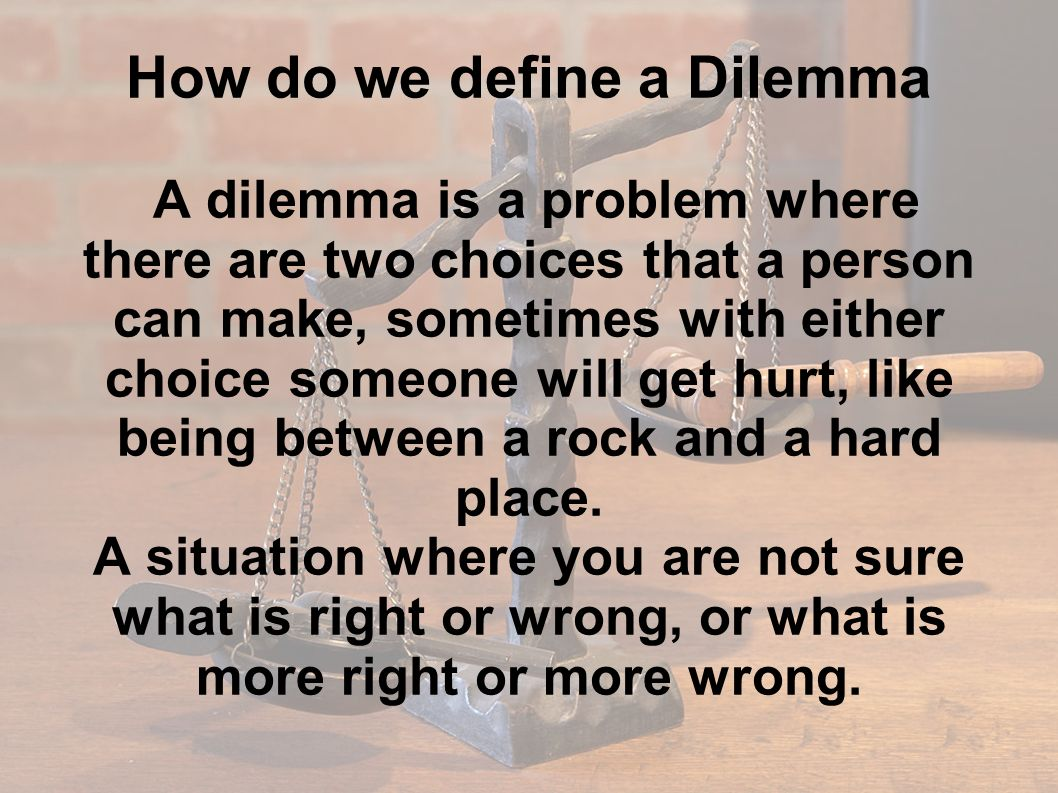 ethical dilemma definition Definition of ethical issue: a problem or situation that requires a person or organization to choose between alternatives that must be evaluated as right (ethical) or wrong (unethical.
