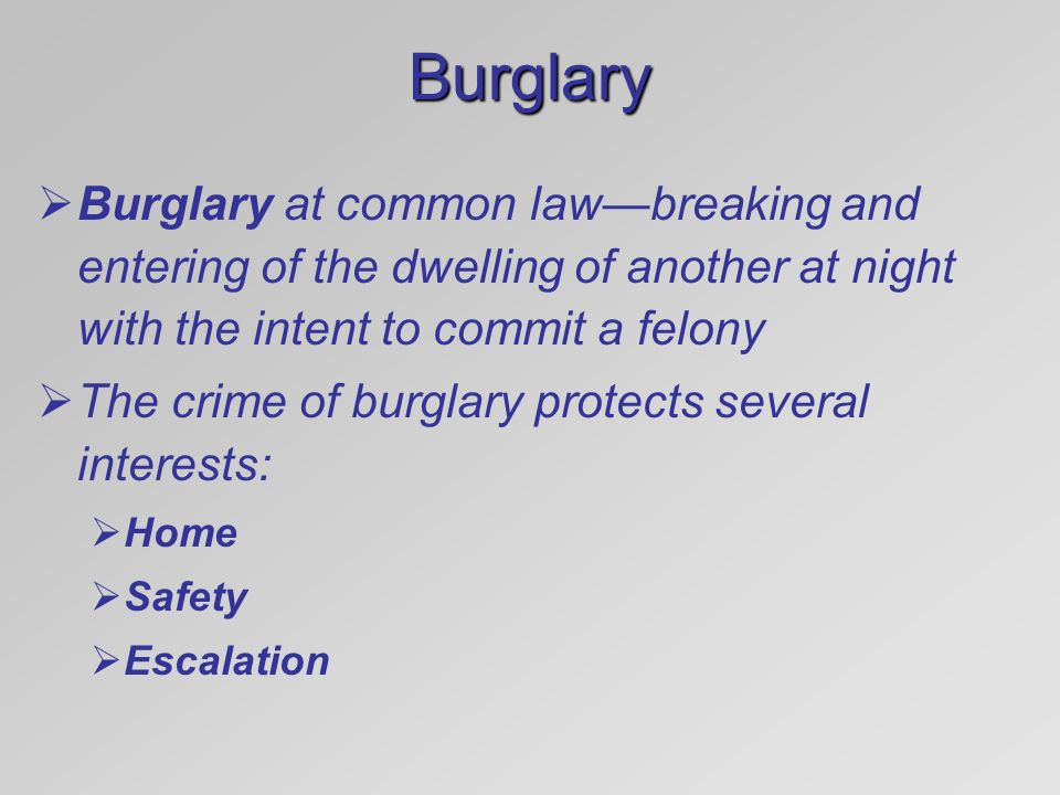 introduction to burglary Introduction text here you, your family and your friends are very unlikely to become a victim of burglary in hertfordshire on a typical day there are around eight burglaries a day in hertfordshire, which is extremely low for a county of its size however, one estimate suggests homes with no security measures in place are.