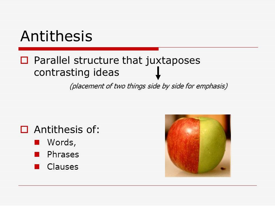 parallelism antithesis sentence