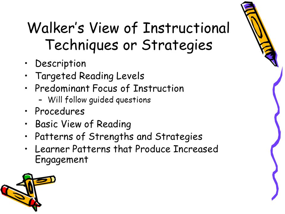 instructional techniques and strategies