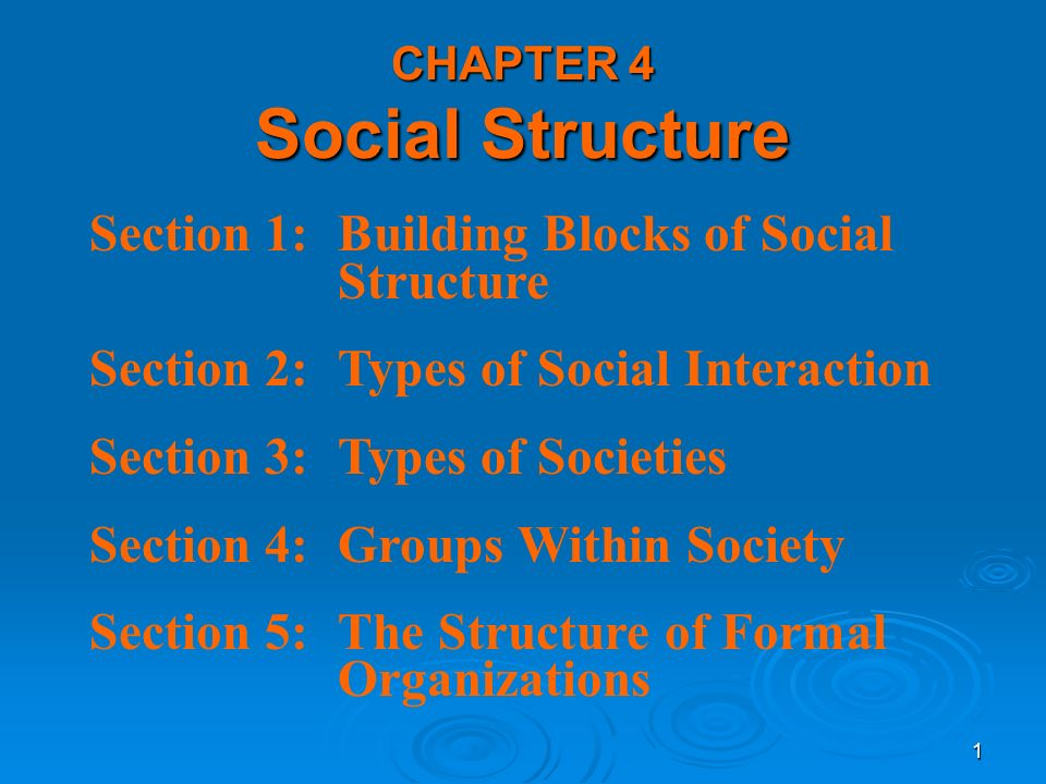 what are the 5 types of social interaction