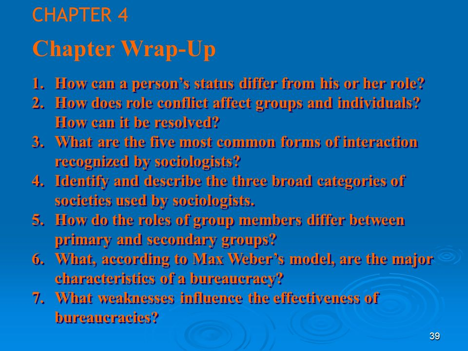 Chapter Wrap-Up CHAPTER 4