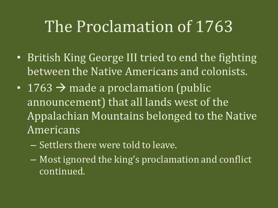 Proclamation of 1763 native lands essay