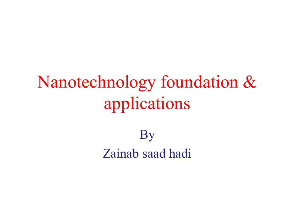 nanotechnology a revolutionary undertaking essay The task of this chapter is to present and briefly discuss the main ethical implications of current and prospective neural applications of nanotechnology while the.