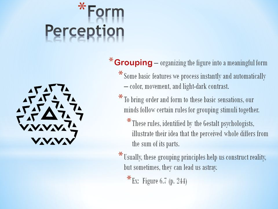 Perception A P Psychology Chapter Ppt Video Online Download