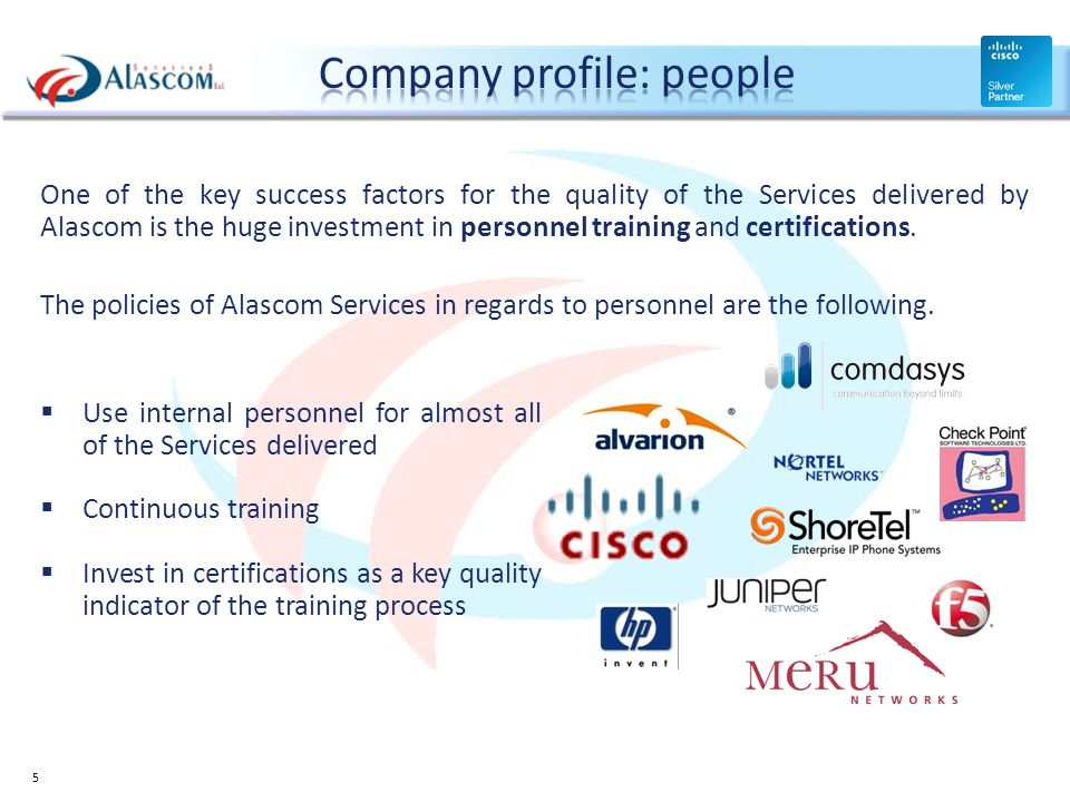 Company profile: people