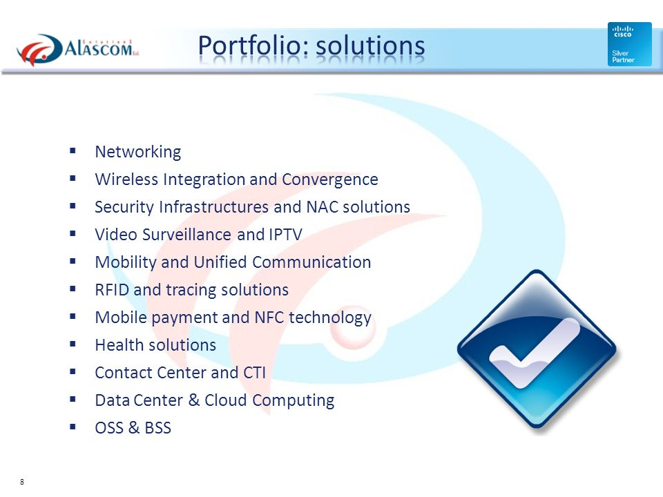 Portfolio: solutions Networking Wireless Integration and Convergence