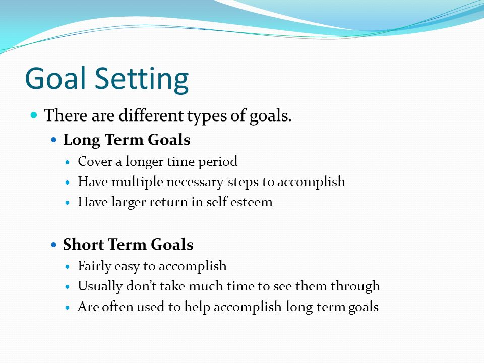 Long Term Goals : Decision making model and goal setting ppt video online