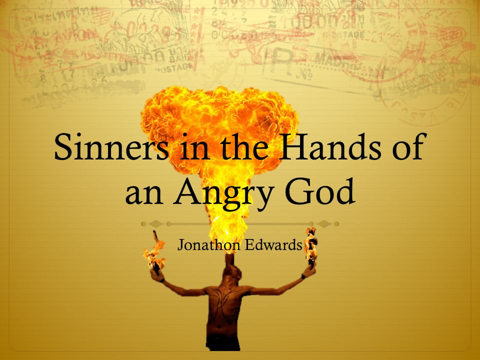 Analysis of sinners in the hands of an angry god