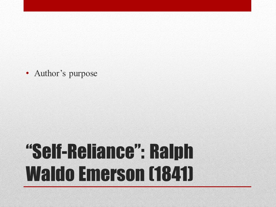 Self-Reliance Questions and Answers