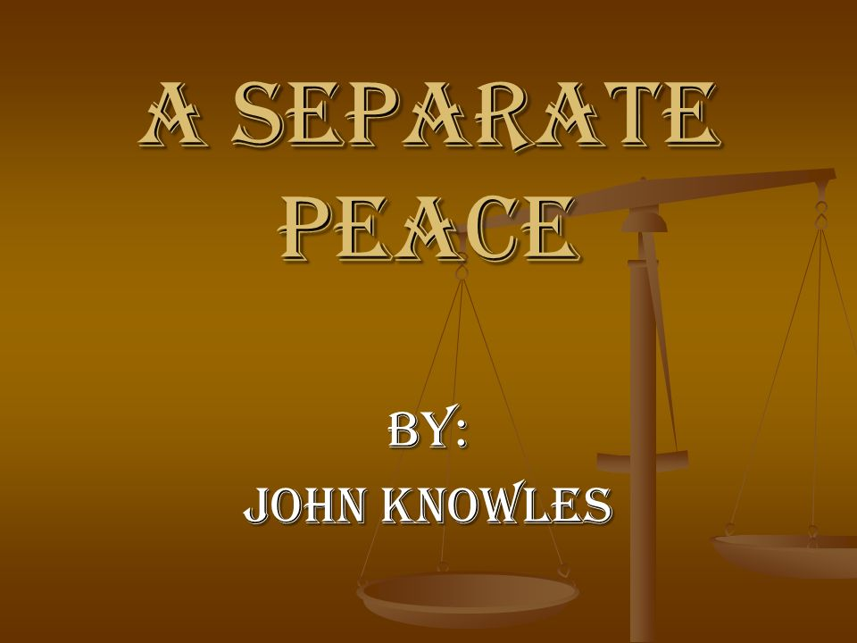 an analysis of the main themes in a separate peace by john knowles