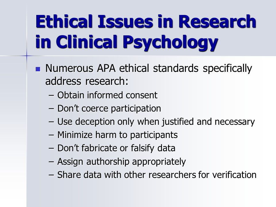 ethical issues of deception in psychological research essay Ethics is one of the most crucial areas of research, with deception and research increasingly becoming a crucial area of discussion between psychologists, philosophers and ethical groups.