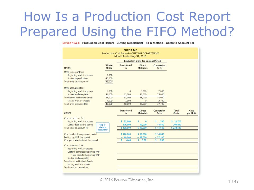 Chapter 18 Process Costing - ppt download
