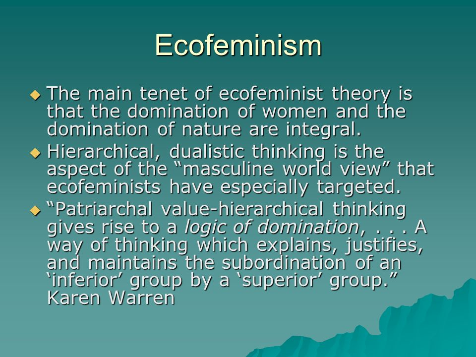address obama The term ecofeminism
