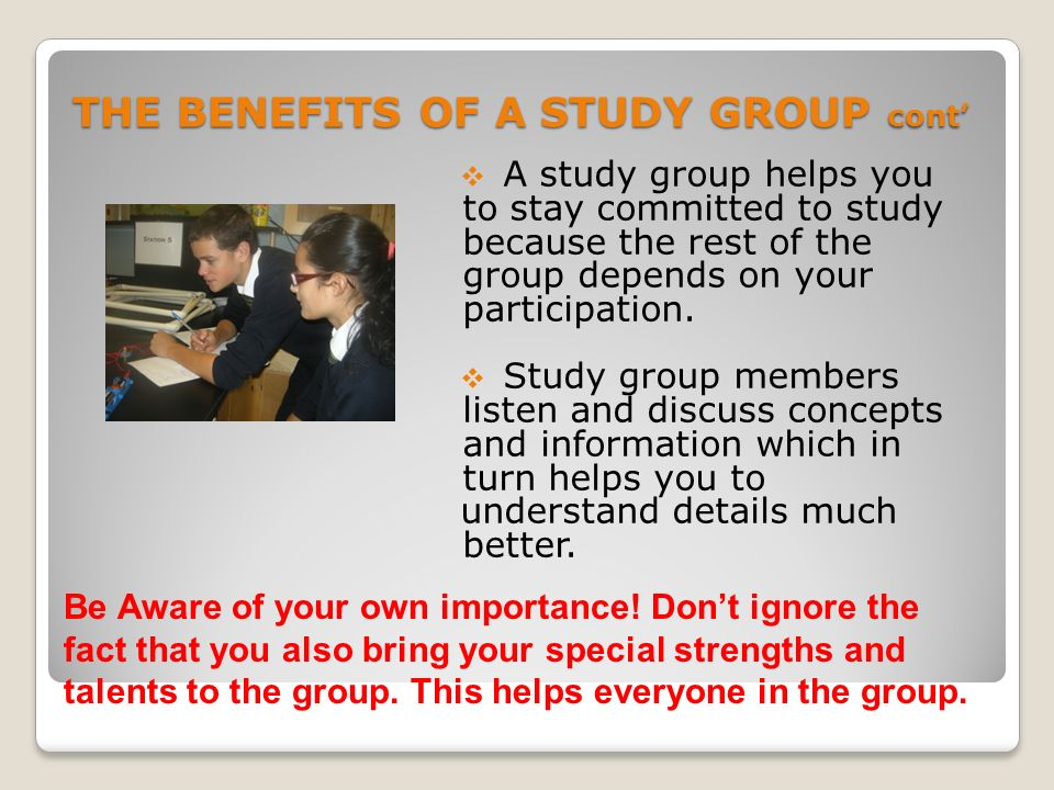advantage of study group The control group, receiving no intervention,  this can be a very clever approach, as long as care is given to the ethics of the study first.