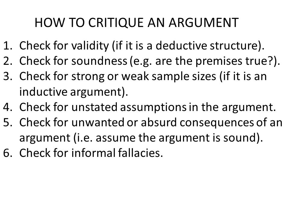weak inductive argument