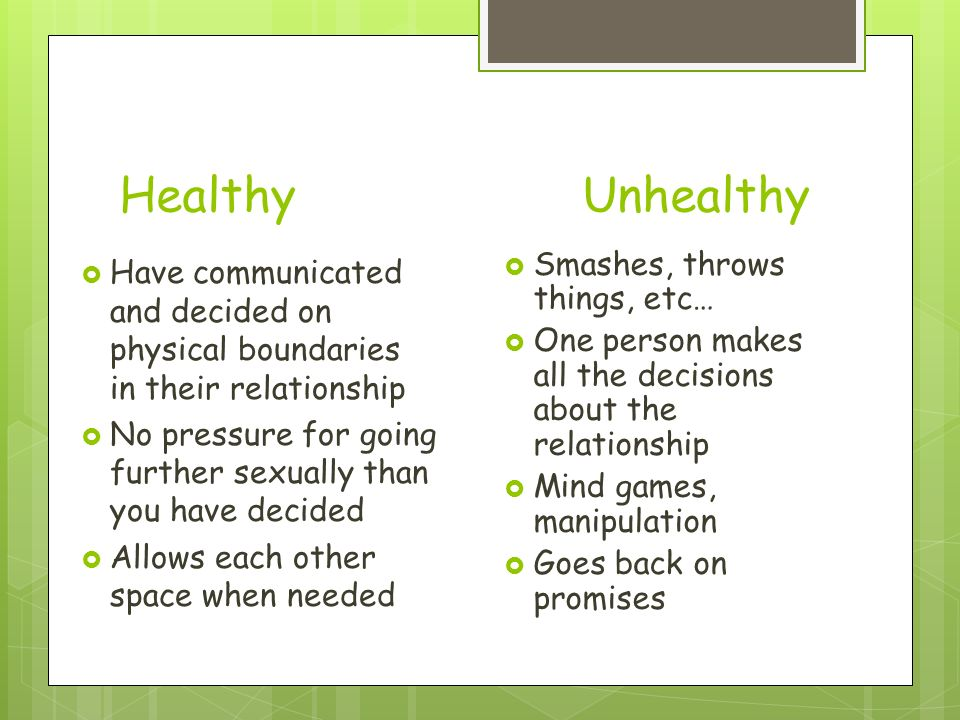 Characteristics of healthy and unhealthy relationships for Is space good for a relationship