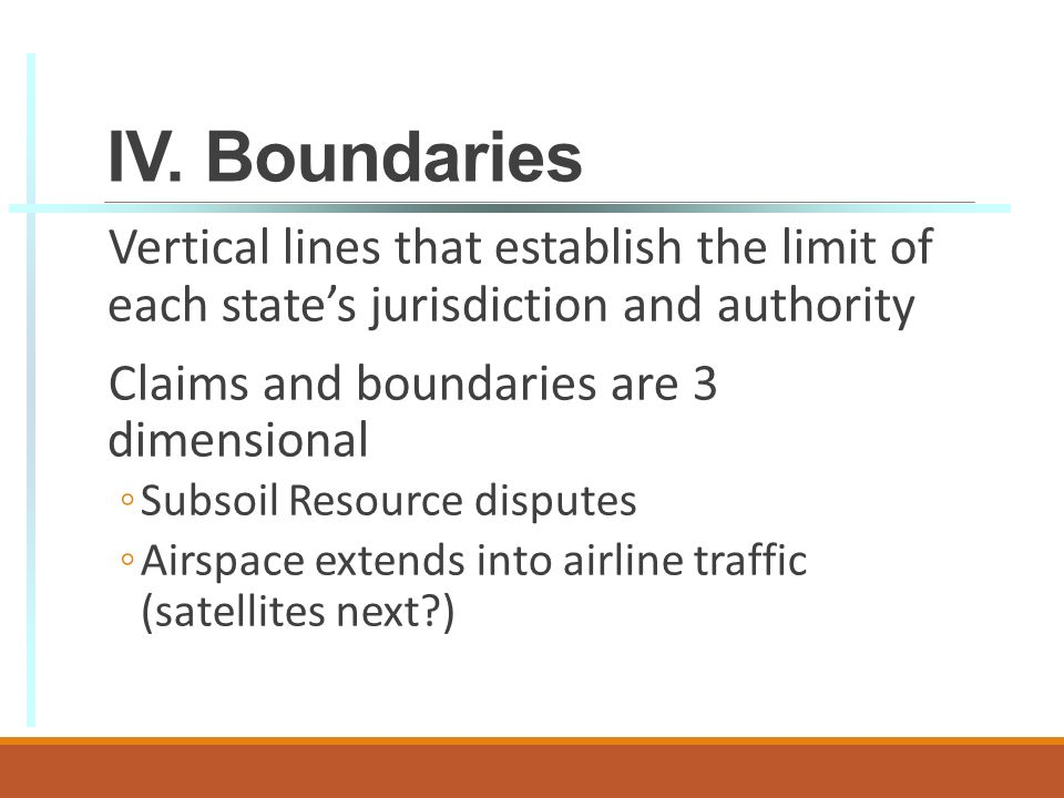 vertical boundaries The legal definition of boundary is an imaginary line which marks the limits boundary definition: a boundary line for land can be horizontal or vertical.