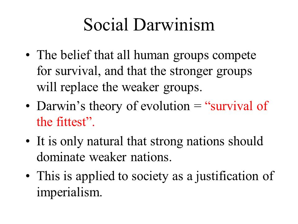an analysis of the beliefs of social darwinism Transcript of social darwinism and social reform the belief that no matter what a person's many economist later believed that george's analysis was.