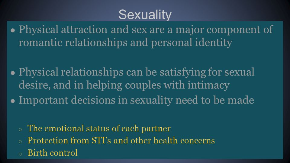 Couples and human sexuality