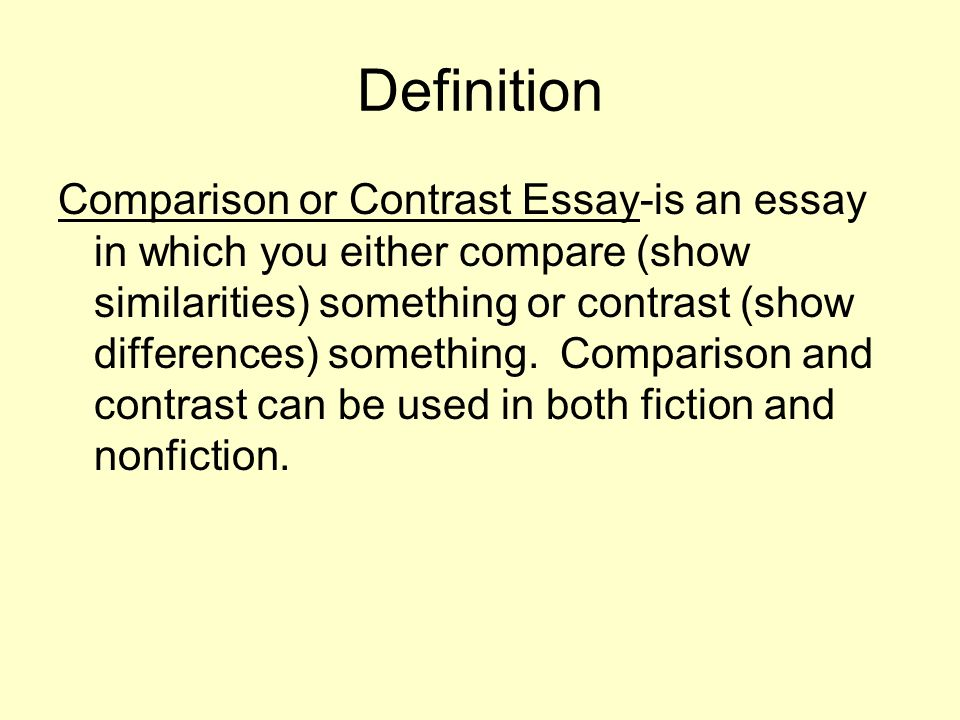 compare and contrast the presentation 3 essay Document presentation format: arial tahoma times new roman wingdings slit compare and contrast slide 2 slide 3 what did you.