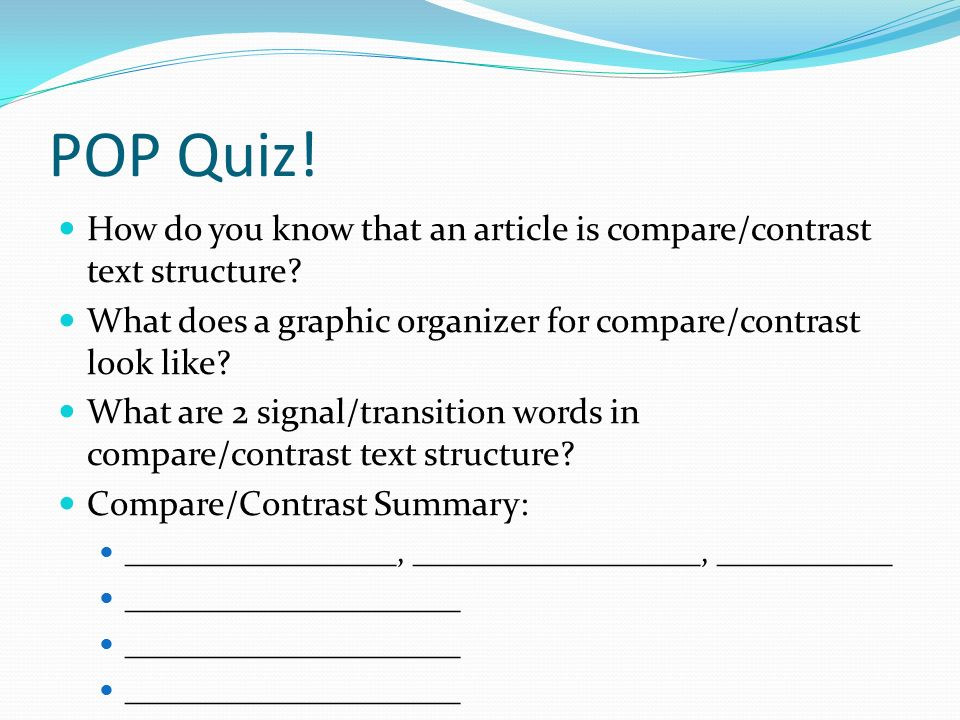 Compare and contrast text structure ppt video online for What does contrast do